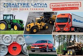 SIA BALTYRE LATVIA– riepas, diski un kameras visa veida tehnikai