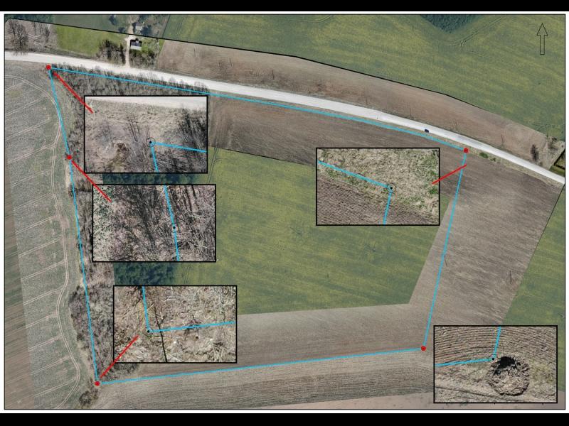 Robežu pārbaude: kartēšana un savietošana ar kadastra datiem