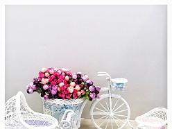 Dekors makslīgie ziedi dāvanas