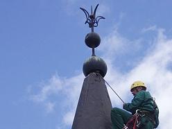 Industriālais alpīnisms, stacionāro metāla konstrukciju attīrīšana un krāsošana