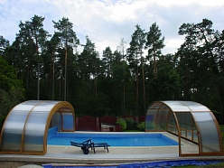 Bīdāmie baseinu jumti pēc pasūtījuma