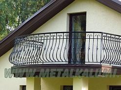 Metāla balkona margas