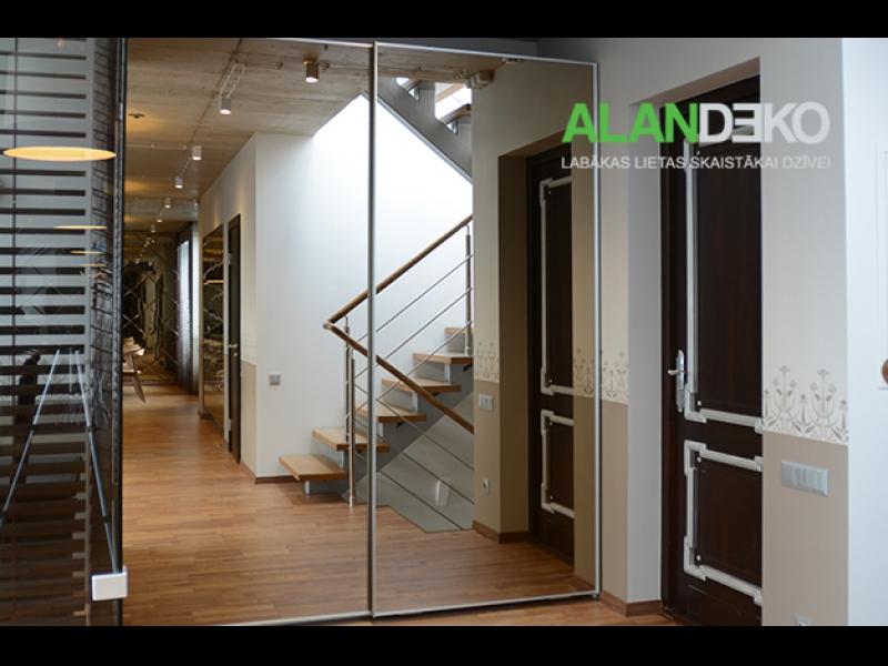 ALANDEKO mēbeles iebūvējamie skapji bīdāmās spoguļ durvis