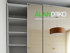 ALANDEKO mēbeles iebūvējamie skapji bīdāmās durvis spoguļi