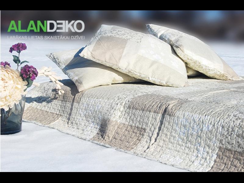 ALANDEKO interjers tekstils gultas pārsegs pārvalks spilveni