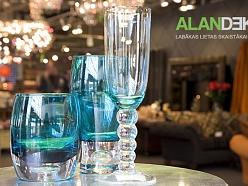 ALANDEKO interjers trauki glāzes krāsainas dāvanas