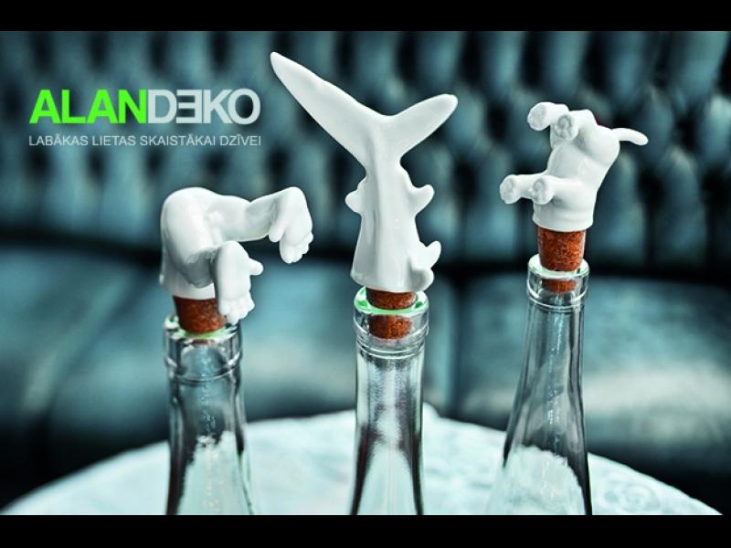 ALANDEKO virtuvei dāvanas amizanti pudeļu korķi