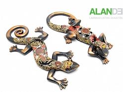 ALANDEKO interjers dāvanas dekoratīvas figūras ķirzakas