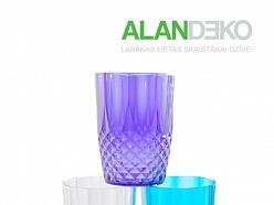 ALANDEKO trauki krāsainas glāzes