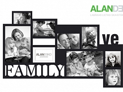 ALANDEKO dāvanas foto rāmji ģimene