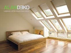 ALANDEKO rullo žalūzijas jumta logiem