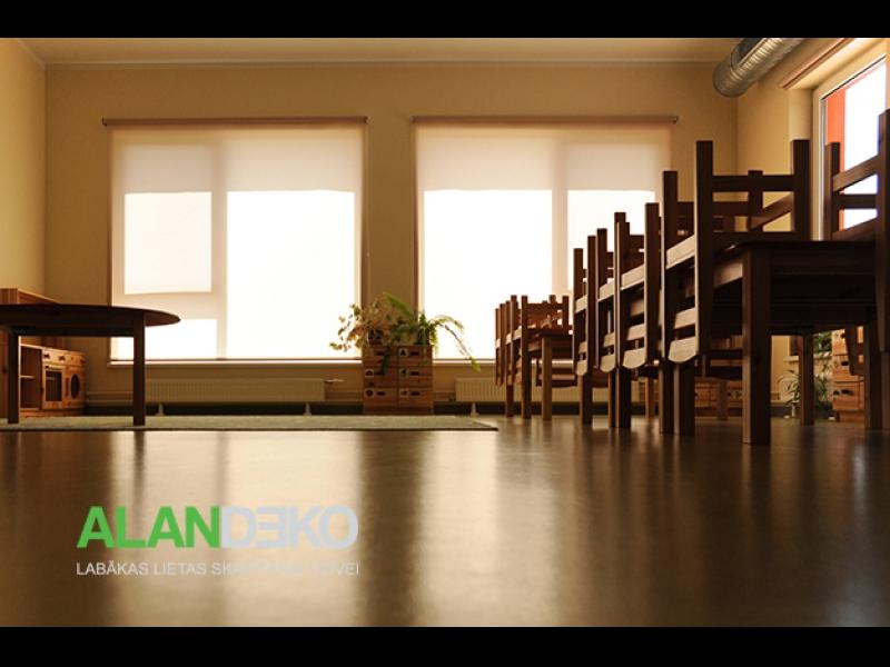 ALANDEKO rullo žalūzijas bērnudārziem skolām izglītības iestādēm