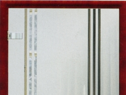 Stikla durvis matētas