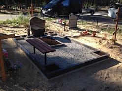 Oriģināla kapu vietas labiekārtošana