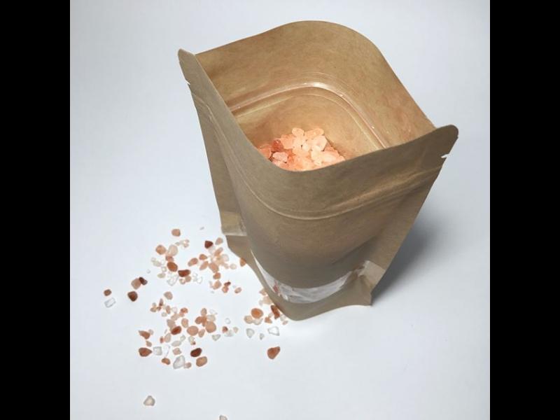 Papīra zip lock maisiņi ar lodziņu