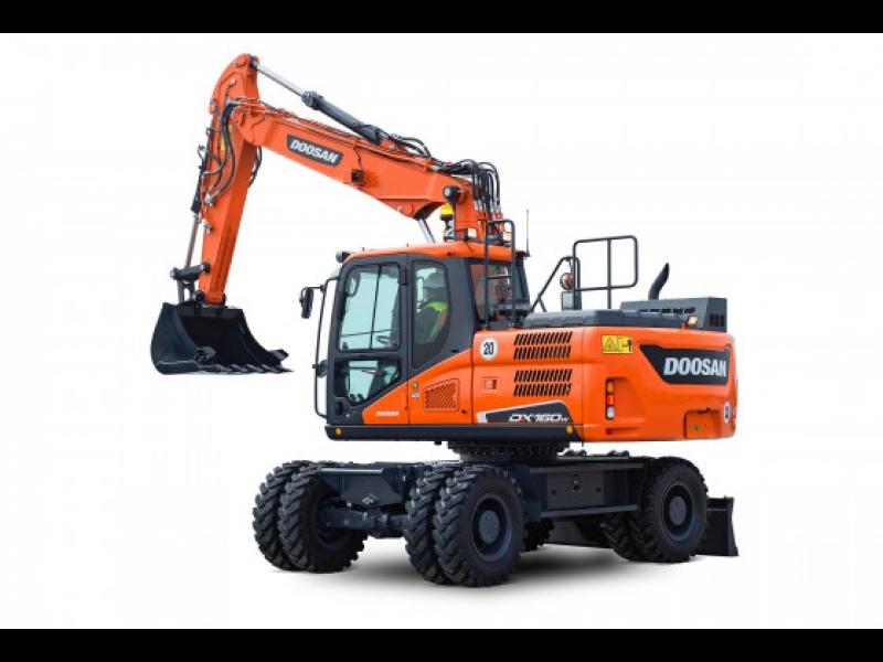 Doosan ekskavators dl160w būvtehnika Intrac