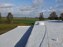 Plakana jumta renovācija ar putupoliuretānu