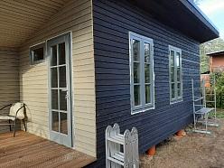 Koka durvis + skandināvu logi