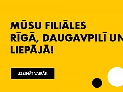 Iepakojuma eksperti. Filiāles Rīgā, Liepājā un Daugavpilī.