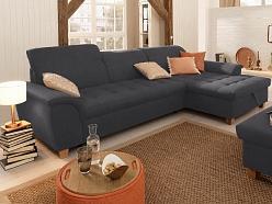 Izvelkams stūra dīvāns ar regulējamiem galvas balstiem