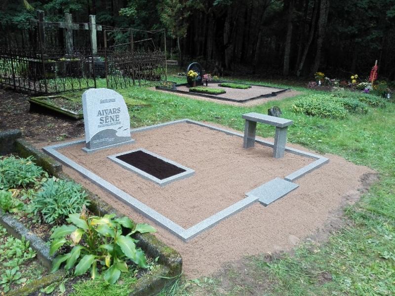 A A darbnīca, akmens apstrāde, kapu pieminekļi