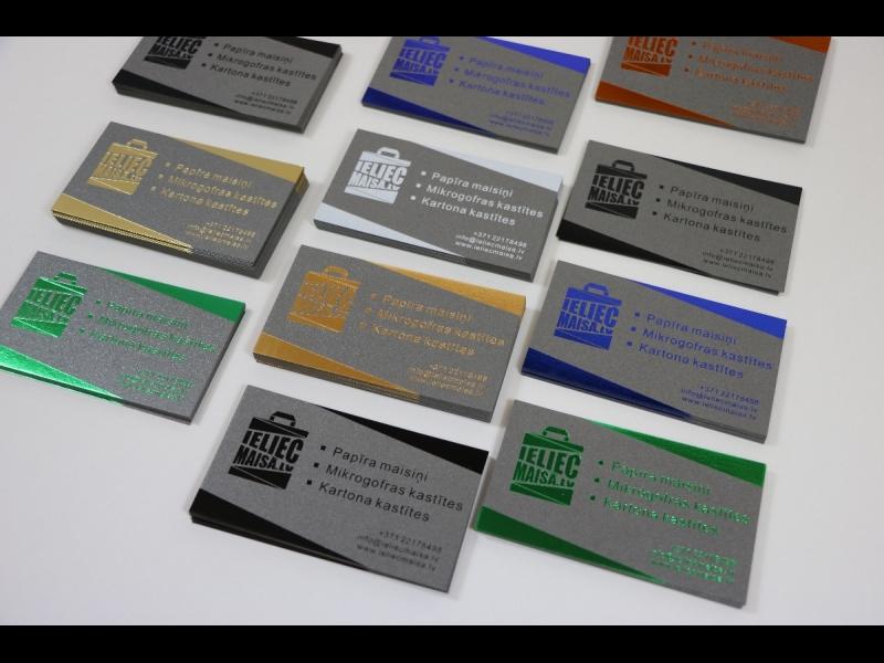 Vizītkartes ar foliju