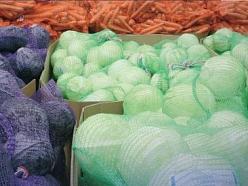 Tīkla maisi dārzeņiem