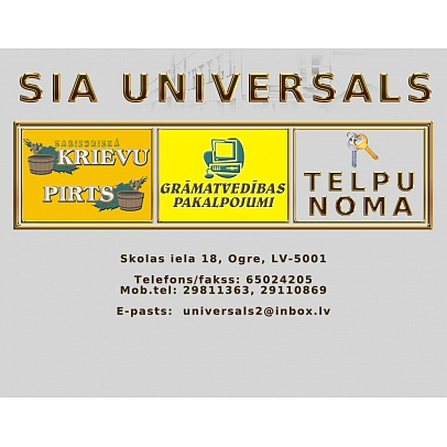 """""""Universals"""", SIA Telpu un autostāvvietu noma"""