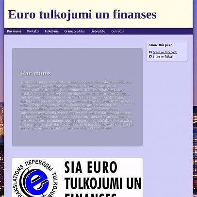 """Euro tulkojumi un finanses"", SIA"