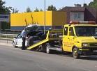 Vidusdaugavas TV: Avarējušās policijas automašīnas šoferim alkohola ietekme nav konstatēta