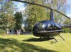 Igauņu viesi Valmieru izvēlas apmeklēt ar helikopteru