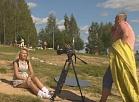 Vidusdaugavas TV: Jēkabpils Radžu ūdenskrātuves pludmalē notiek videoklipa filmēšana