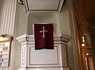 Alūksnes luterāņu baznīcas altāris.
