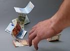 Eiro banknotes.