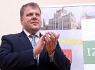 Auces novada domes priekšsēdētājs Gints Kaminskis.