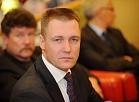 """BijušaisAS """"Pasažieru vilciens"""" valdes priekšsēdētājs Andulis Židkovs (priekšplānā)"""