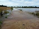 """Lietavu ūdeņu applūdinātā zemnieku saimniecības """"Ezerlīči"""" teritorija Ciblas novadā."""