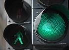 Zaļā gaisma luksoforā.