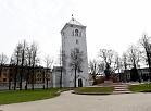 Jelgavas Sv. Trīsvienības baznīcas tornis.