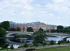 Jelgavas pils un tilts pār Lielupi.