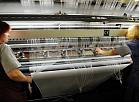 """Tekstilmateriālu ražošanas uzņēmuma SIA """"Lauma Fabrics"""" aušanas cehs."""