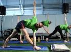 """Jogas skolas """"Anahata"""" jogas vingrojumu paraugdemonstrējumi starptautiskajā skaistuma izstādē """"Expo Beauty"""" Skonto hallē."""