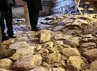 1682.gadā celtās Arsenāla ēkas grīdas bruģējums Rīgas pils Austrumu piebūvē, kur agrāk atradās valsts Ārzemju mākslas muzejs.
