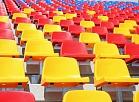 Daugavas stadiona atjaunotās un paplašinātās tribīnes ar 10 400 skatītāju sēdvietām.