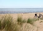Mangaļsalas pludmale.