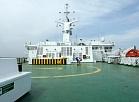 """Klājs uz kruīza prāmja """"Isabelle"""", kurš sāks kursēt maršrutā starp Latviju un Zviedriju, nomainot kuģi """"Silja Festival""""."""