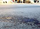 Satiksmes negadījuma sekas Merķeļa ielā.