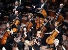 """Liepājas Simfoniskais orķestris koncertzāles """"Lielais Dzintars"""" atklāšanas koncertā."""