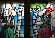 Restaurēs Siguldas Jaunās pils logu vitrāžas
