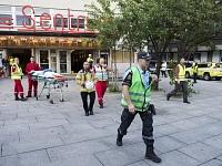 Norvēģijas galvaspilsētā Oslo iebrukuši griesti ēkā, kur tobrīd norisinājies koncerts. Ievainojumus guvuši 15 cilvēki.